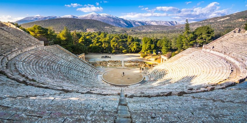 The Theater of Epidaurus, Greece