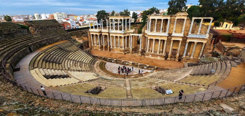 The Theater of Mérida, Spain