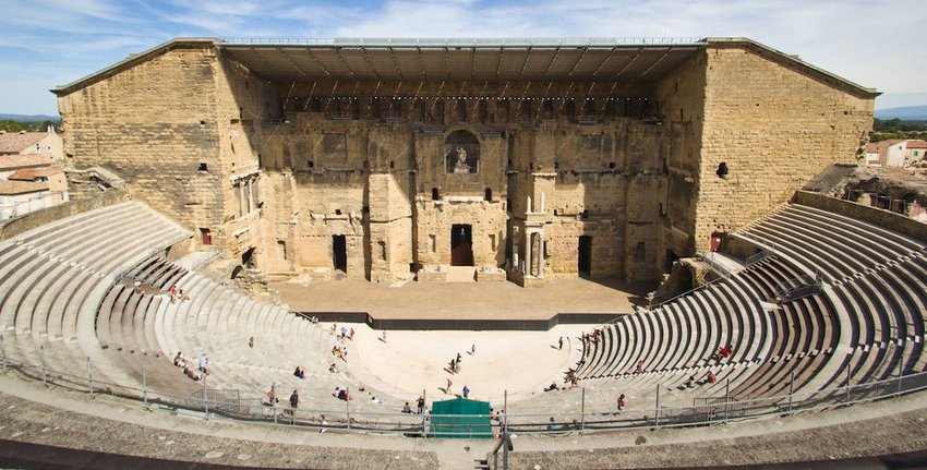 The Roman Theater of Orange, France