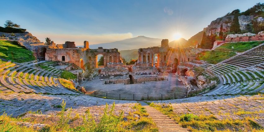 The Theater of Taormina, Italy