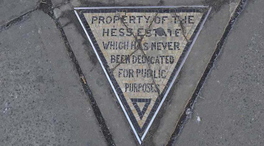 The Hess Triangle Is the Smallest Piece of Private Property in the City