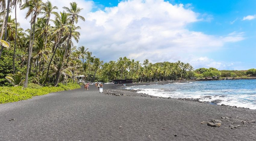 The Black Sand Beaches, Kilauea, Hawaii
