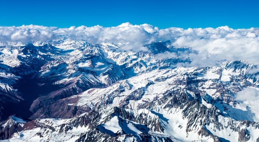 The Andes (4,350 miles)