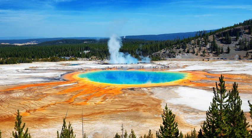 Grand Prismatic Springs, Yellowstone, Wyoming