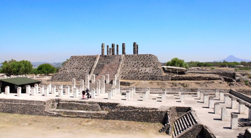 Ruins of a Toltec Empire pyramid
