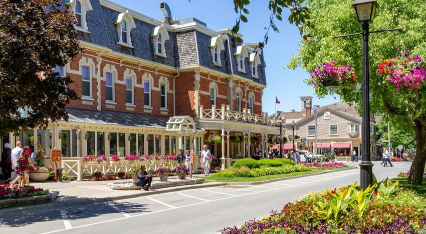 Old-fashioned buildings in Niagara on the Lake, Canada