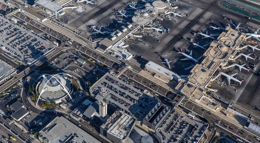 Aerial photo of Los Angeles International Airport