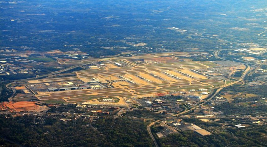 Aerial photo of Atlanta airport