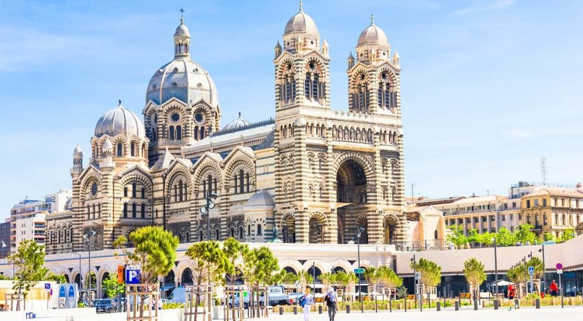 Photo of the beautiful and intricate Marseille Cathedral