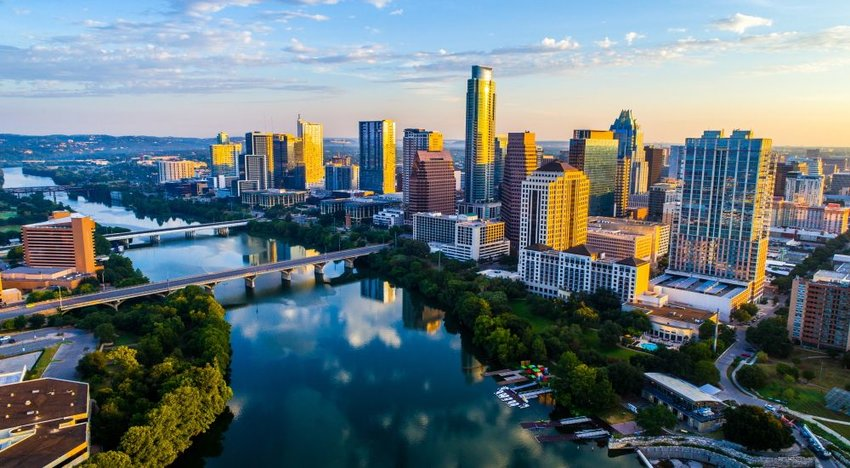 Photo of the skyline of Austin, Texas