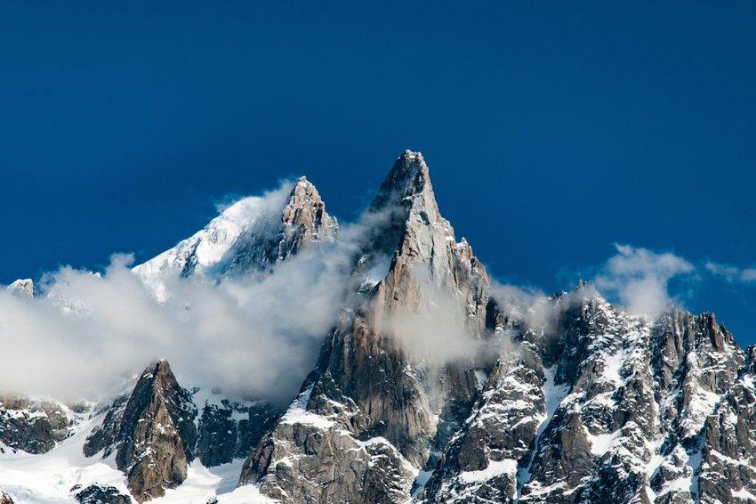 Dramatic peak in Chamonix, France