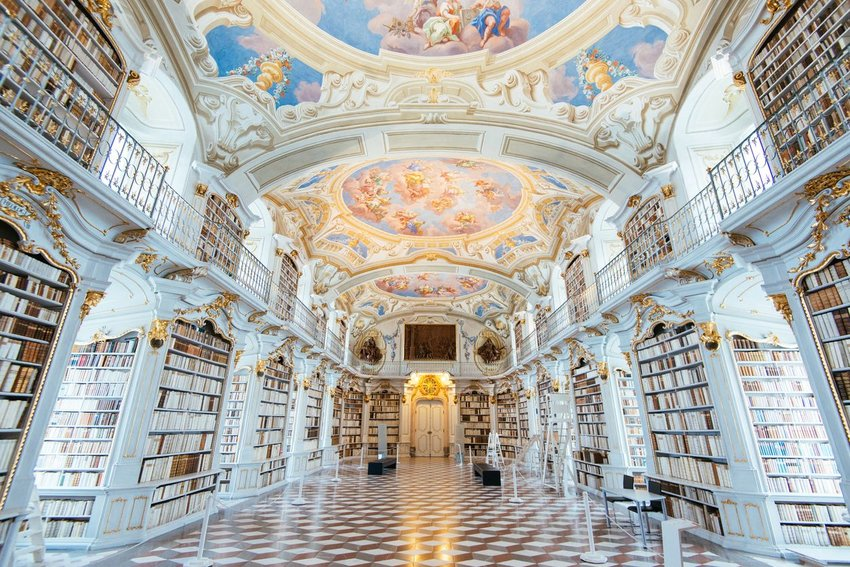 Interior of the Admont Library in Austria
