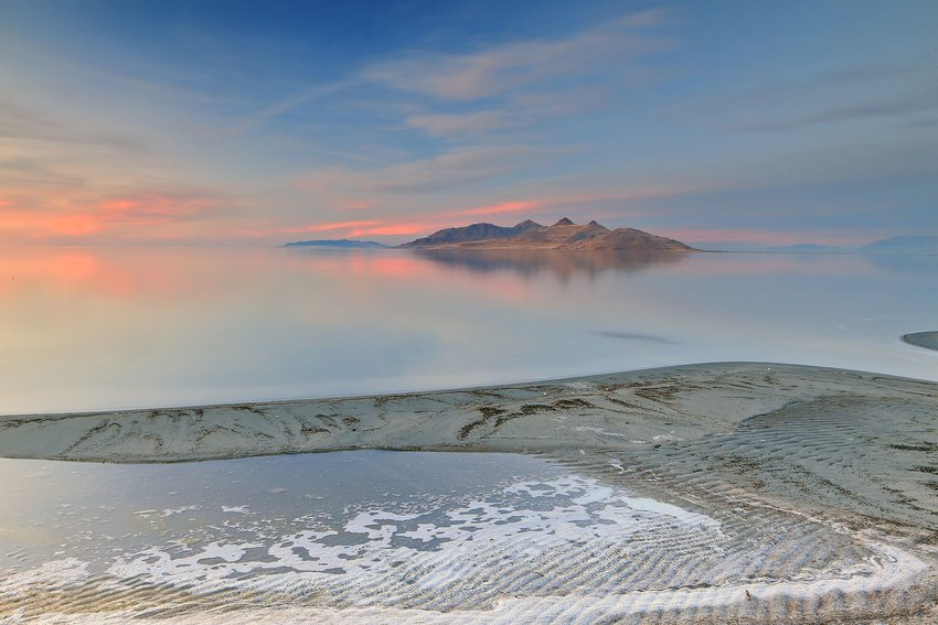 Photo of Great Salt Lake at sunrise