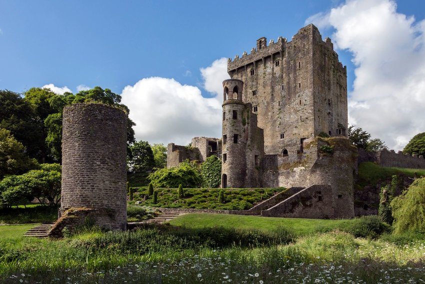 Exterior of Blarney Castle in County Cork, Ireland