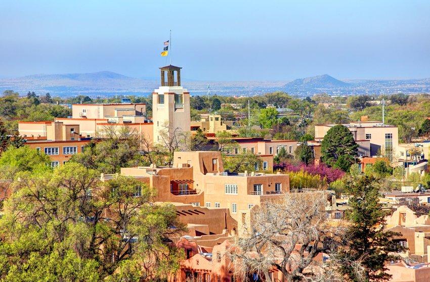 Aerial photo of Santa Fe