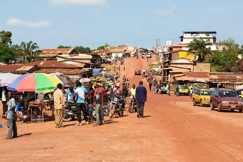 Photo of a Liberia road