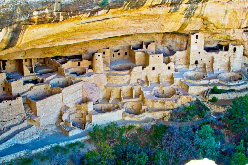 Cliffside homes in Mesa Verde National Park, Colorado