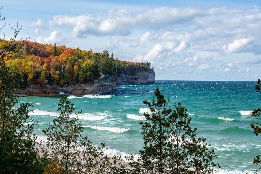 Lake Superior in Michigan in autumn