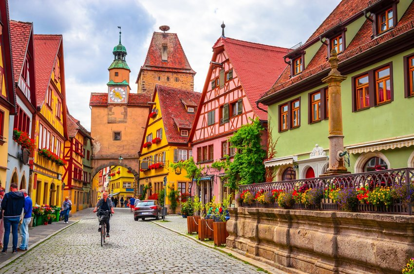Colorful German town