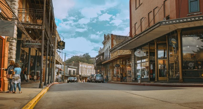 Downtown Eureka Springs in the fall