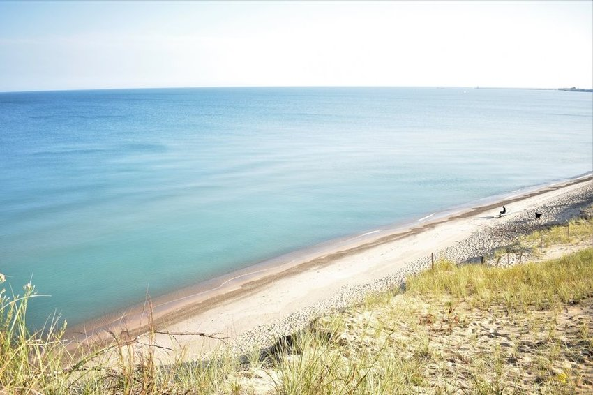 The coastline at Indiana Dunes National Park