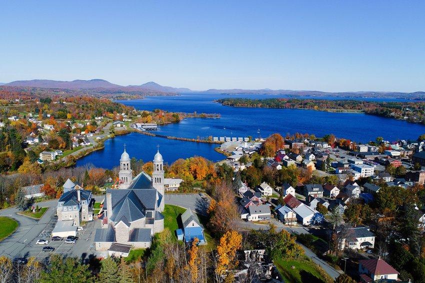 Lake Memphremagog behind Newport, Vermont