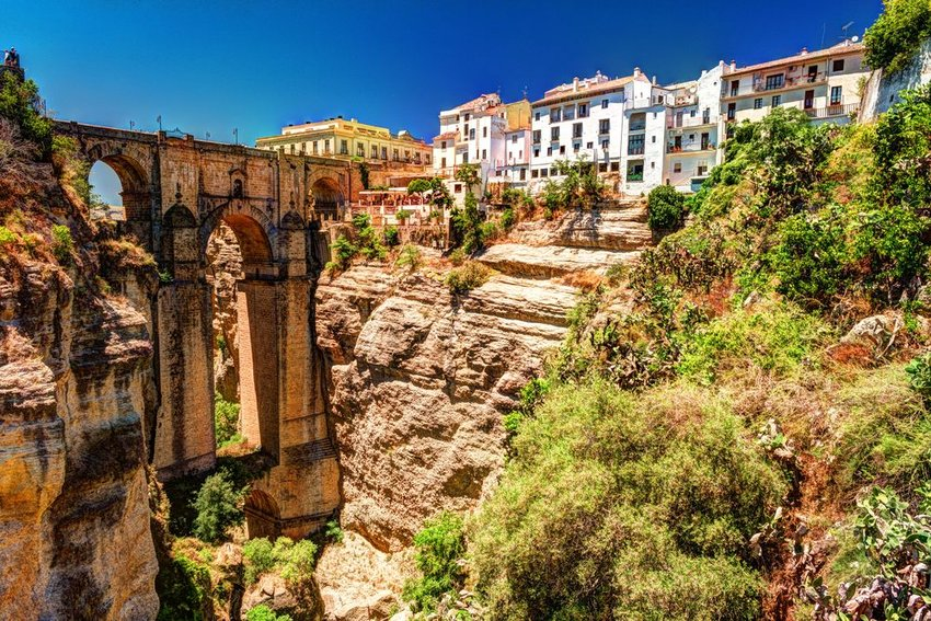 Ronda, Spain landscape with the Tajo Gorge in view