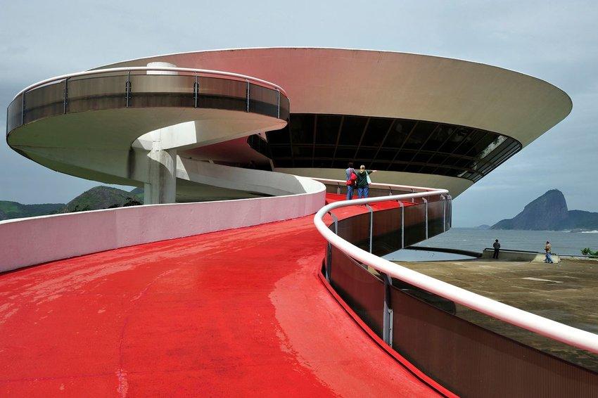 The Niteroi Contemporary Art Museum in Rio de Janeiro, Brazil