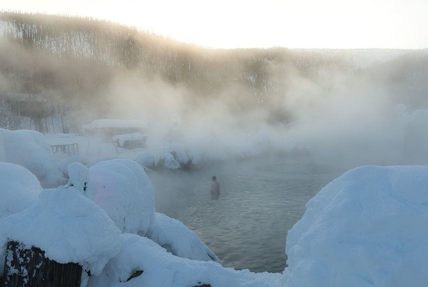 Chena Hot Springs in Fairbanks, Alaska