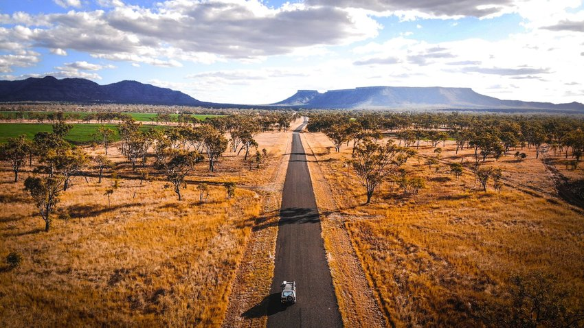 Road through Australian Outback