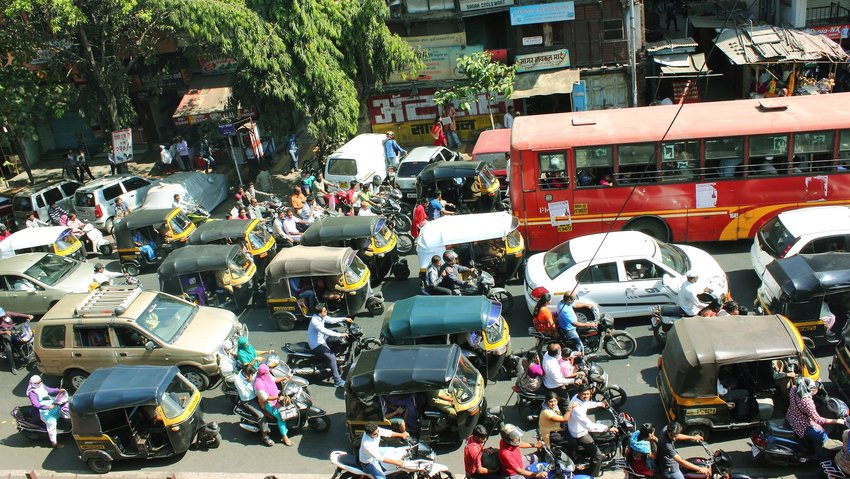 Traffic in Indian city