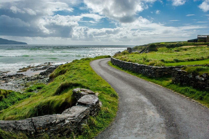 coastal road in Ireland