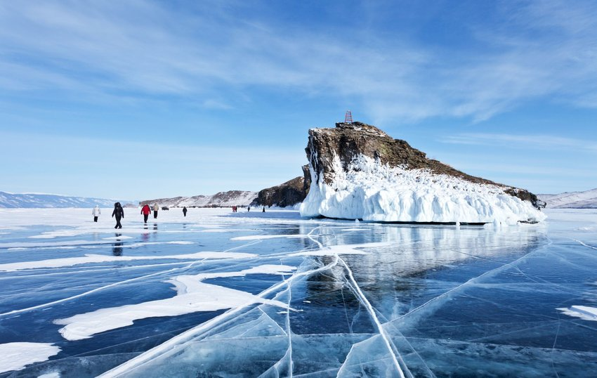 Lake Baikal in Russia frozen over