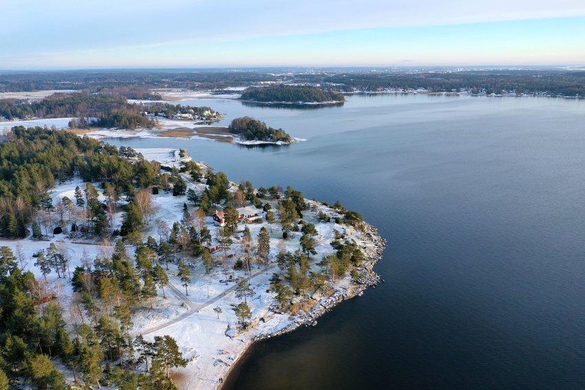 Swedish lake in winter