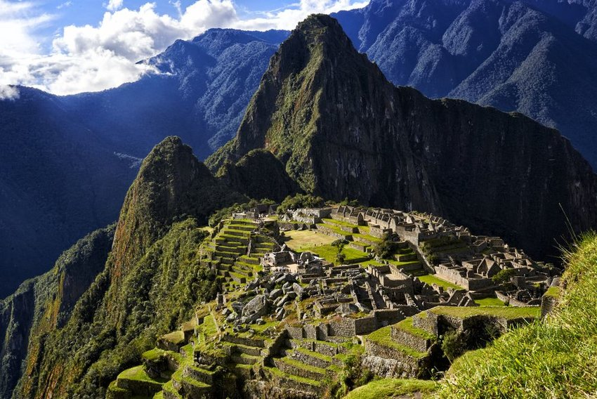 Machu Picchu seen from above