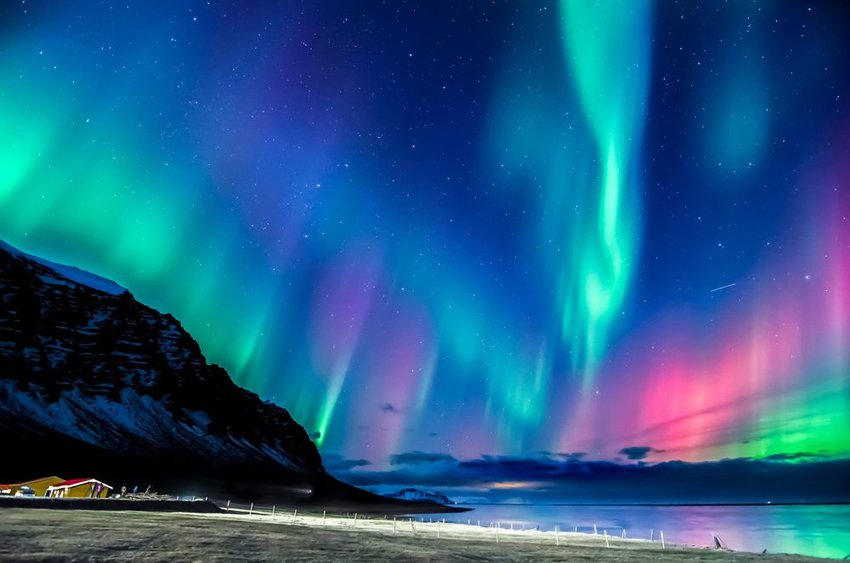 Northern lights bright over Greenland