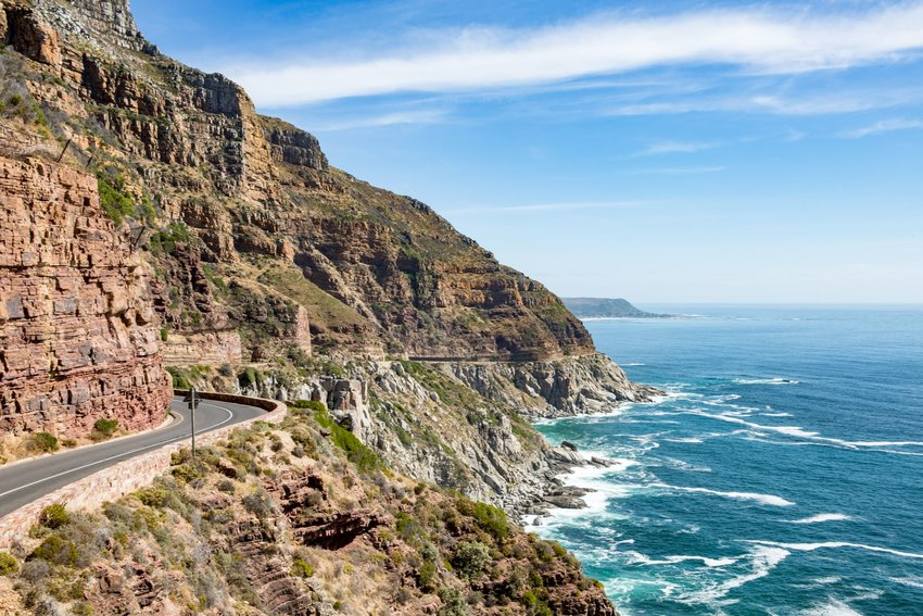 Cliff next to the sea in South Africa