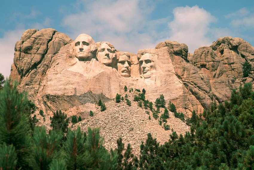 Mount Rushmore and the surrounding mountainside