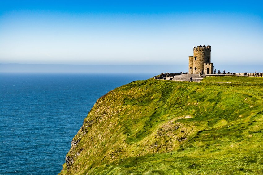 O'Brien's Tower on the western Atlantic Ocean coastline of Ireland