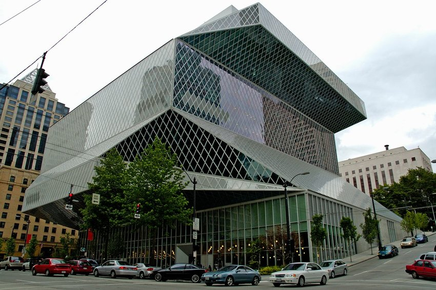 Front entrance of the Seattle Central Library