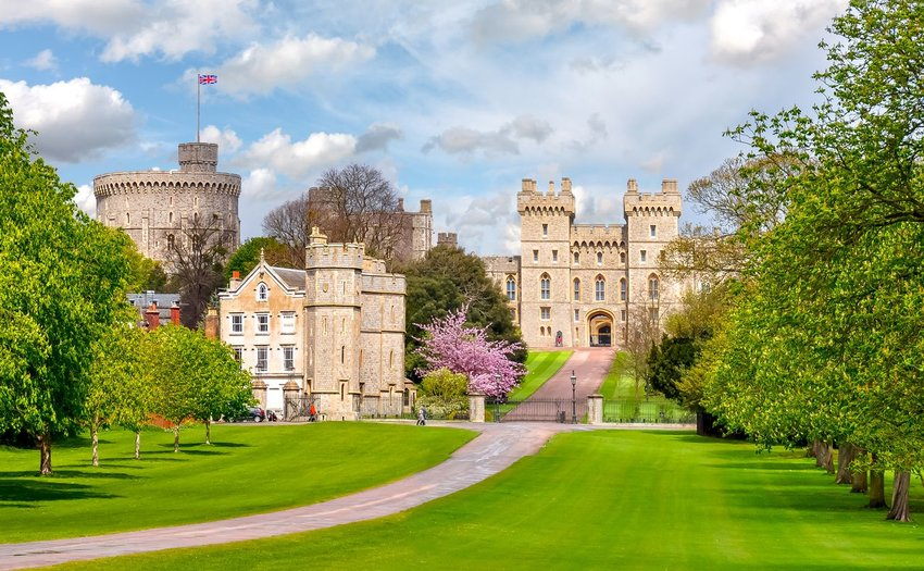 Windsor Castle and its scenic grounds