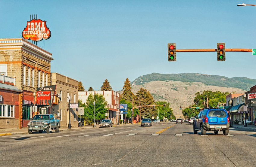 Main street in Cody, Wyoming
