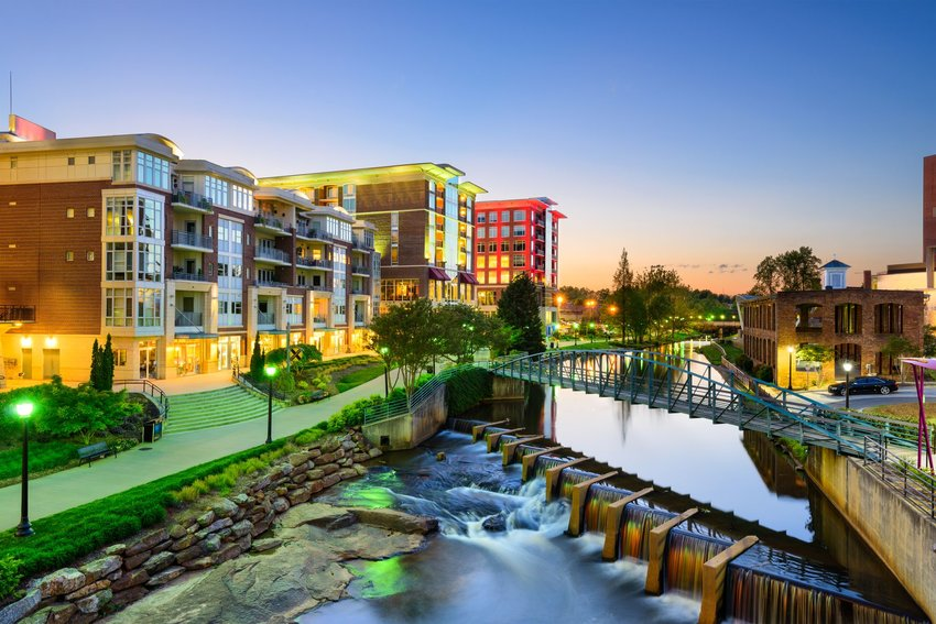 Downtown Greenville riverwalk
