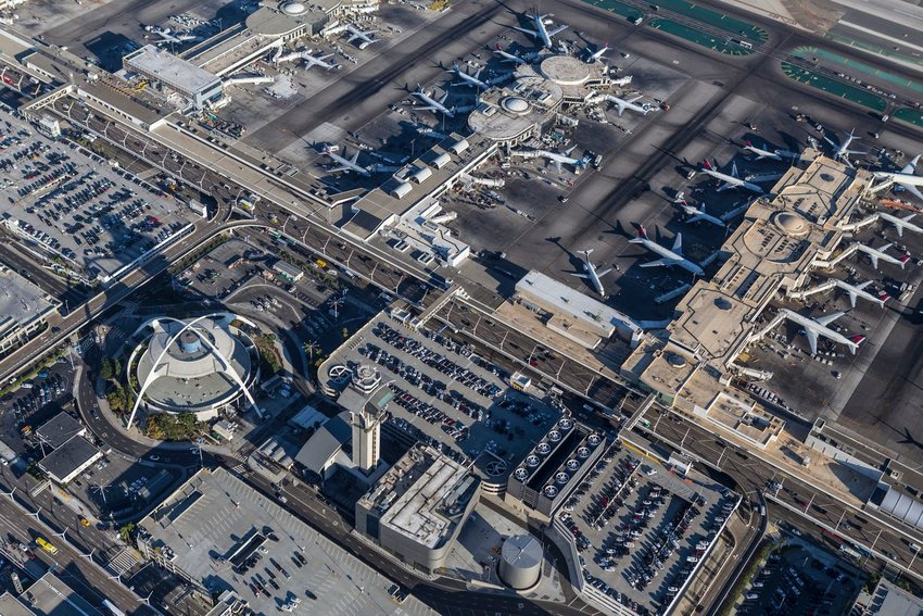 Aerial view of LAX International Airport