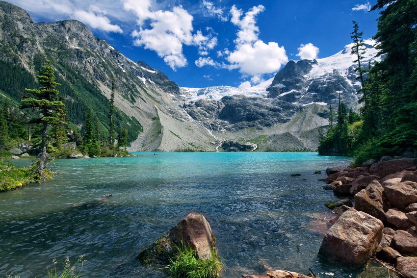 Joffre Lakes in summer, British Columbia, Canada