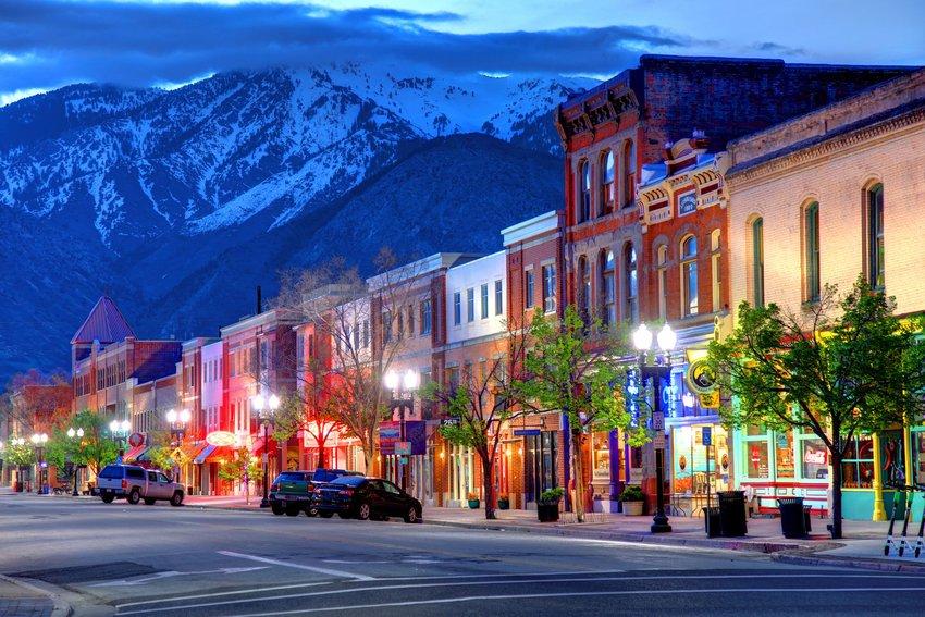 Main street in Ogden, Utah