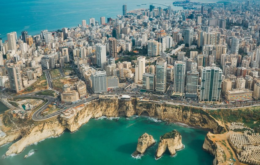 Aerial view of Beirut, Lebanon