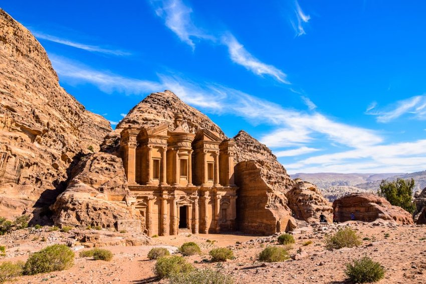Ad Deir - Monastery in the ancient city of Petra, Jordan
