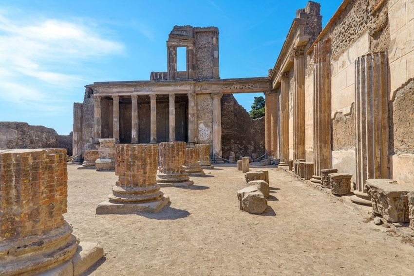 Archaeological ruin of ancient Roman city, Pompeii