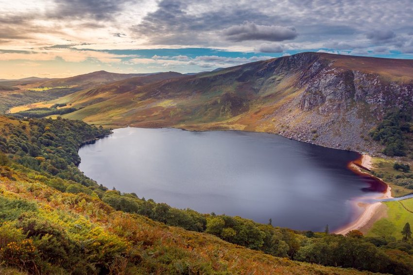 Guinness Lake in Wicklow mountains